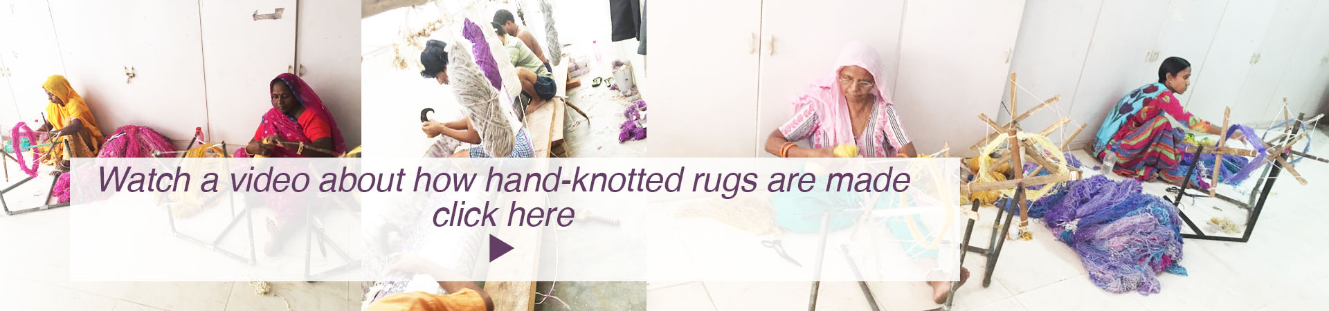hand-knotted rug video