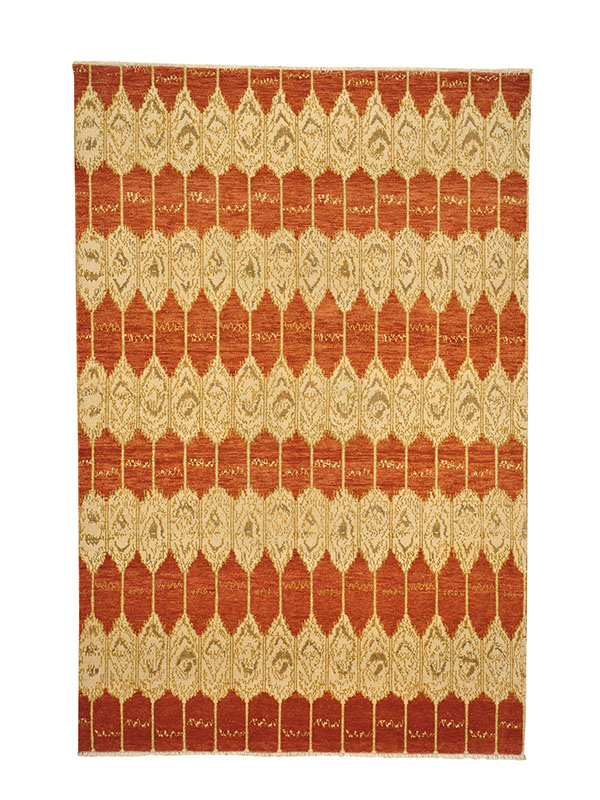having been introduced to oriental rugs in recent years ikat designs along with oushak rugs gained popularity among interior